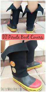 easy diy kid pirate boot covers costumes diy costumes and
