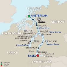 France Germany Map by German River Cruises Avalon Waterways