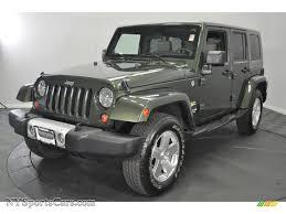 green jeep rubicon 2009 jeep wrangler unlimited sahara 4x4 in jeep green metallic