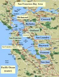 San Francisco County Map by Map Bay Area California California Map