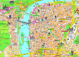 Map Of Czech Republic Detailed Tourist Map Of Prague City Center Prague City Center