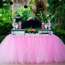 tutu baby shower theme 1pcs 15 colors tulle table skirt diy tutu tableware skirts for