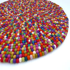 Wool Felt Rugs 108 Best Rugs Images On Pinterest Felt Ball Rug Nepal And Color