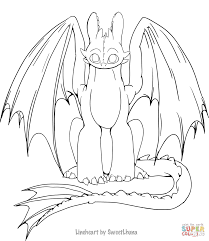toothless dragon coloring pages night fury dragon coloring page