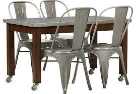 anson 5 pc table set table sets dark wood