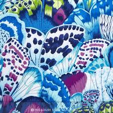 butterfly wings lagoon yardage leopard