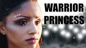 warrior princess tribal halloween makeup youtube