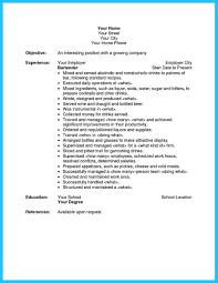 bartending resume exles resume bartender matchboard co for study photo exles resume