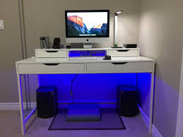 my desk tour ikea alex desk ultimate casual setup youtube
