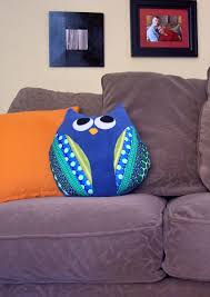 Felt Cushions Owl Cushion 100 Models And Easy Step By Step Home Decoo