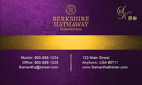 Purple Business Cards Berkshire Hathaway Business Card Design 108021