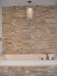 stacked stone tub surround actual installations pinterest