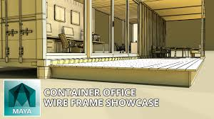 autodesk maya 3d models container office 3d model wire frame