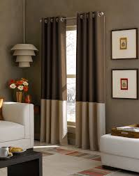 White And Brown Curtains Kendall Color Block Grommet Curtain Panel Curtainworks
