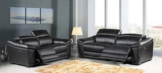 ensemble canapé 3 2 canapé 3 2 places relax électrique en cuir noir ds