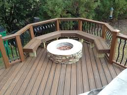 bench deck with built in bench deck railing designs benches see