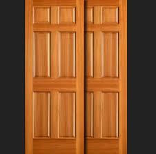 Wooden Closet Door 6 Panel Wood Sliding Closet Doors Interior Home Decor