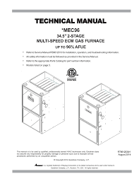 goodman mec96 technical manual