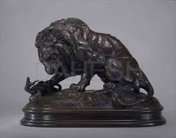 barye lion sculpture antoine louis barye lion and serpent