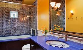 Mediterranean Style Bathrooms by Tuscan Bathroom Ideas Mediterranean Bathroom Designs French
