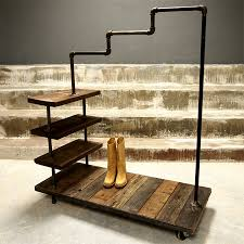 Galvanized Pipe Shelving by Galvanised Galvanized Pipe Clothes Racks And Rails
