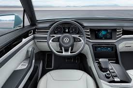 volkswagen suv 2015 interior naias 2015 volkswagen previews midsize suv with cross coupe gte