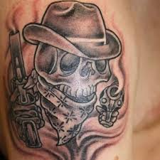 wonderful cowboy soldier tattoo design photos pictures and