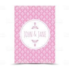 pink ornamental wedding invitation template stock vector art