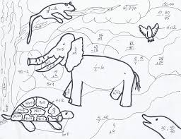math coloring pages 3rd grade shivan u0027s endangered animals math