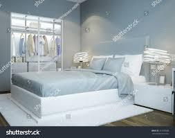 Pics Photos Light Blue Bedroom Interior Design 3d 3d by Scandinavian Bedroom Design Light Blue Colored Stock Illustration