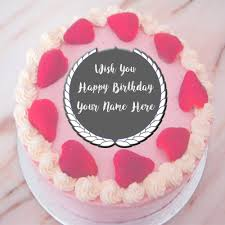 beautiful happy birthday cake name wishes profile pictures