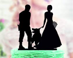 cake topper with dog dog cake topper etsy