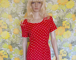 80s polka dot dress etsy