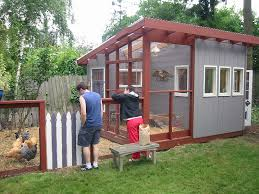chicken coop building plans with simple chicken house construction