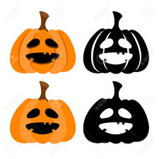 scary halloween white background set of scary halloween pumpkin isolated on white background