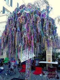 mardi gras 2016 bead tree on st charles avenue photograph by