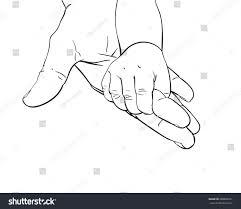 line art sketch baby tiny hand stock vector 688600261 shutterstock