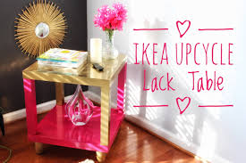 Pink Accent Table Diy Ikea Hack Lack Accent Table Super Easy U0026 Cheap Youtube