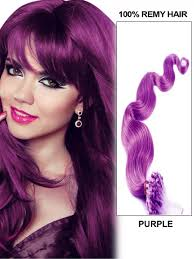 Micro Beaded Hair Extensions by Purple Wavy Micro Loop Link Indian Remy Human Hair Extensions