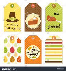 autumn thanksgiving gift tags bundle stock vector 470368040