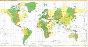 The United States In The World Map by Time In The United States Wikipedia Usa Time Zone Map With States
