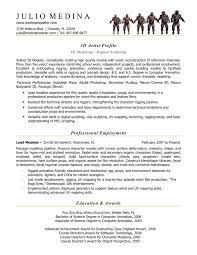 computer animation resume computer animation resume sles