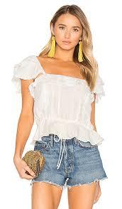 blouse for for lemons crema silk blouse in white revolve