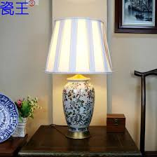 bedroom lamps home decoration glass ceramic table lamps for bedroom base