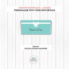 tiffany chocolate wrapper candy labels little dimple designs