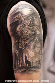forest leg wolf forest moon