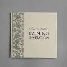 personalised lace wedding invitation set by twenty seven