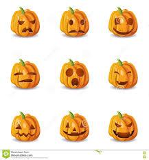 halloween emoji background halloween pumpkin emoticons set stock vector image 78118669