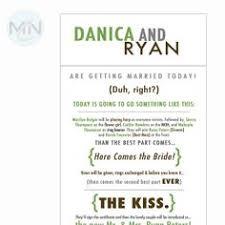 Fun Wedding Programs Funny Wedding Programs Modern And Fun Wedding Ceremony Program