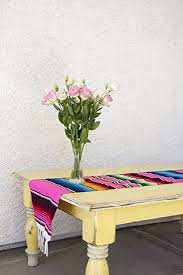 Mexican Table Runner Amazon Com Del Mex Tm Mexican Serape Blanket Table Runner Pink